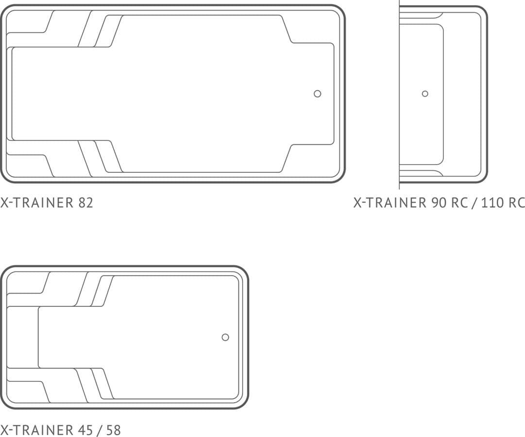 Схема композитного бассейна Compass Pools X-Trainer