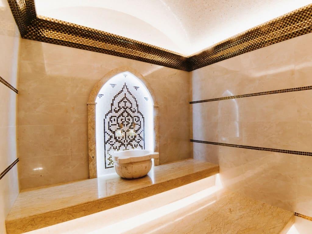 Отделка хамама плиткой и мозаикой