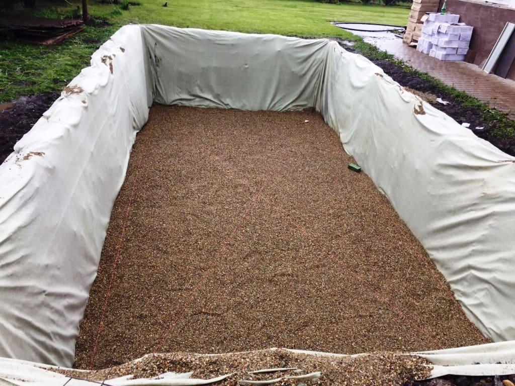 Подготовка котлована для установки композитного бассейна