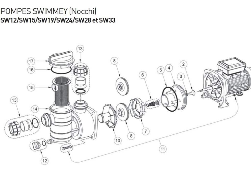 Схема насоса для бассейна