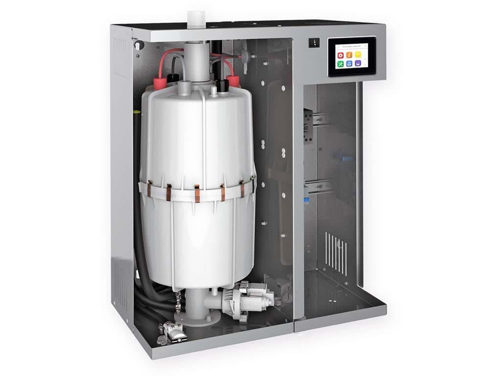 Устройство электродного парогенератора для турецкой бани