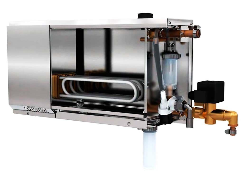Устройство тэнового парогенератора для хамама