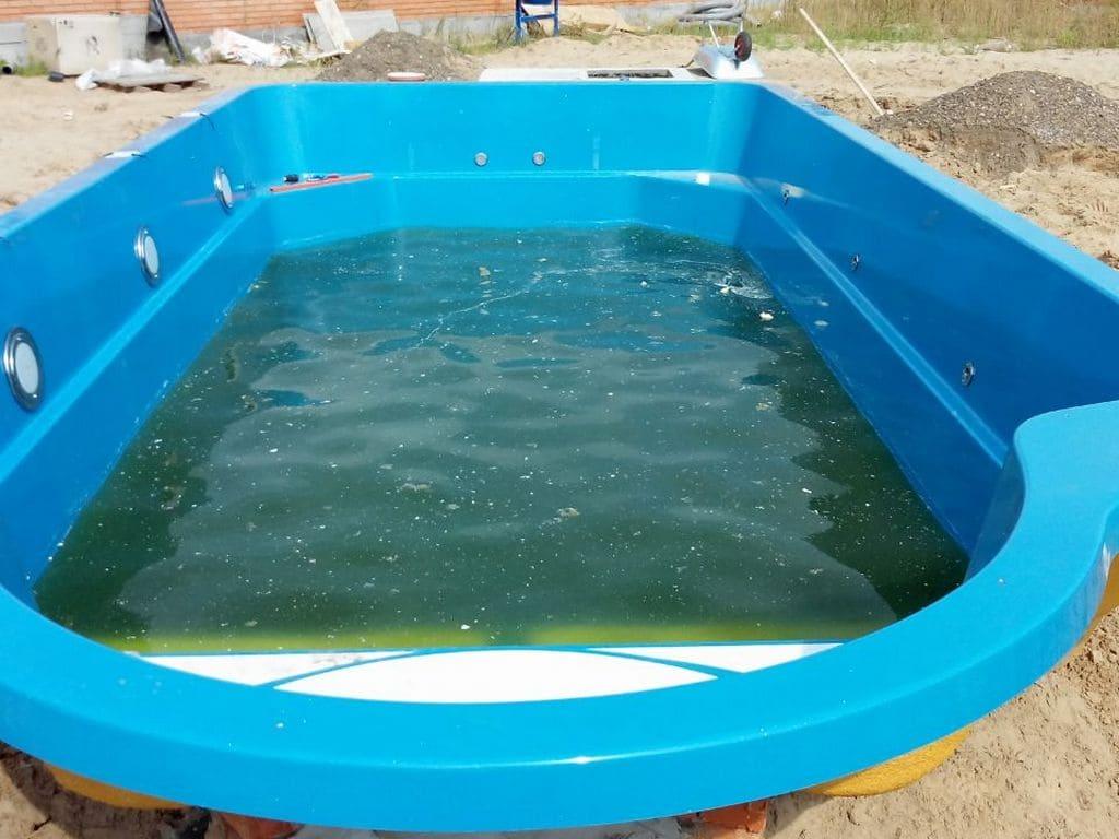 Вода в бассейне без химии и работающей фильтрации