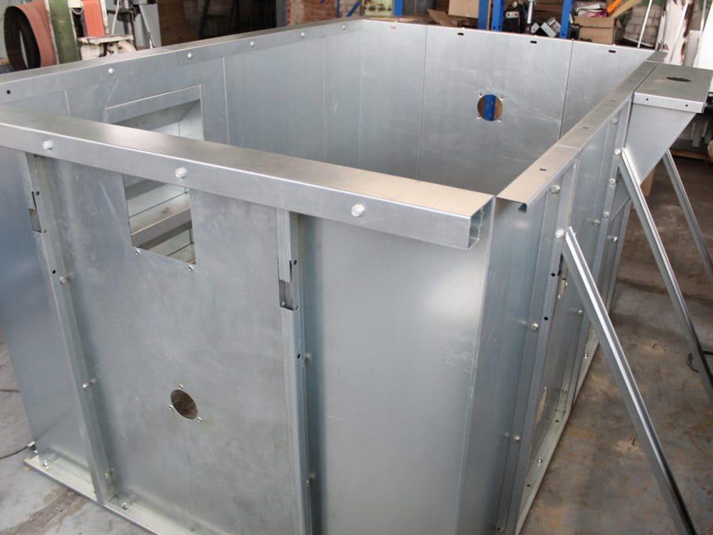 Панельный бассейн runvil из стали
