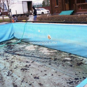 Состояние бассейна до ремонта