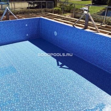Отделка бассейна пленкой ПВХ CGT Cyrus Blue